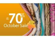 October Sale %!