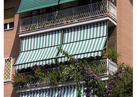 Наружные маркизы для оформления балконов